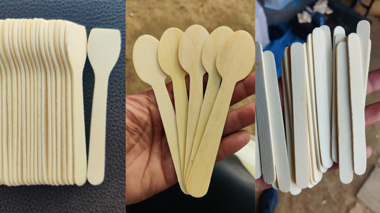 Wooden Spoon or Ice stick Making Machine | Kamal Engineering Works | INDIA  | 9927114214