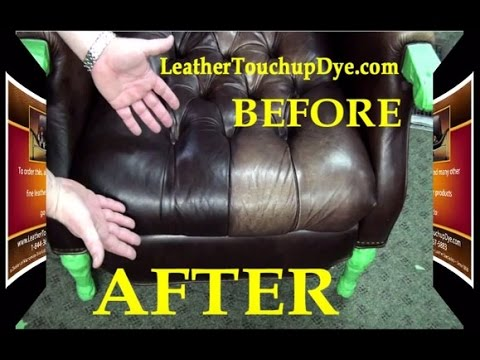leather chair repair bed bath and beyond accent covers kit diy fix worn faded aniline youtube