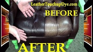 leather repair kit diy fix worn and faded aniline leather chair