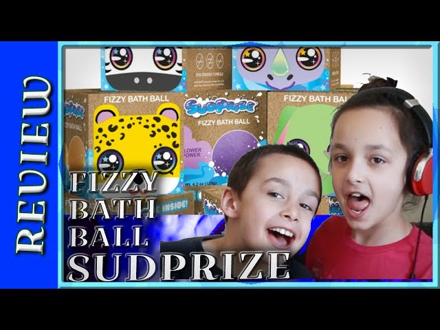 CHECKING OUT SUDPRIZE FIZZY BATH BALL