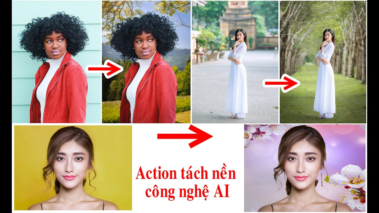 Action tách nền nhanh  với công nghệ AI (Action splits background quickly with AI technology )