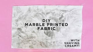 PRINT YOUR OWN MARBLE FABRIC + WHAT TO MAKE WITH IT   THE SORRY GIRLS