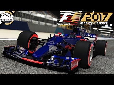 F1 2017 MEGA COOP SAISON - Bahrain-Test : Rennen - Let's Play F1 2017 Mega Coop