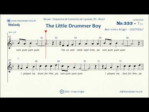 THE LITTLE DRUMMER BOY - ( Lyrics - Sheet music - Karaoke - Chords ...