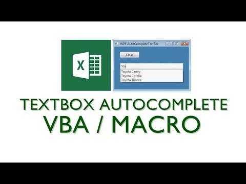 Textbox autocomplete VBA