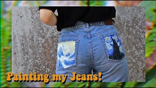 Painting my clothes | Acrylic on jeans!