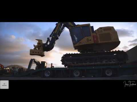 NZ Logging, First Tigercat 5185 In NZ