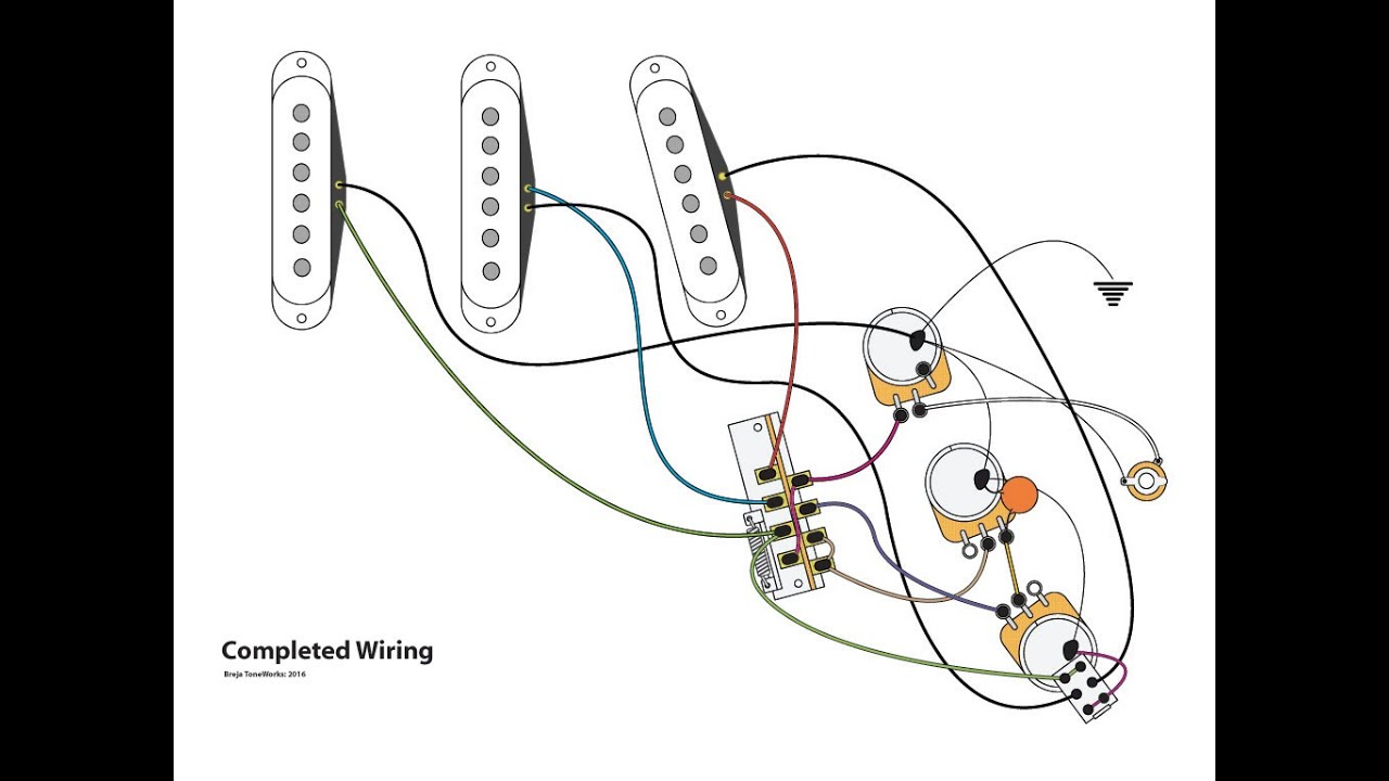 Series Parallel Stratocaster Wiring Mod Youtube Sub