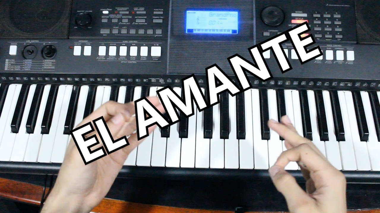 El Amante | Nicky Jam / Tutorial Piano (Acordes Para Cantar )