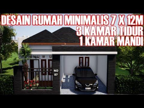 Desain Rumah Minimalis Ukuran 7x14  desain rumah minimalis ukuran 7 x 12m dengan 3 kamar tidur