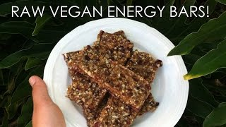 Raw Vegan Energy Bars
