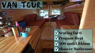 Van Tour: Very Inspiring Van Build - Traveling Life Coach with all Amenities