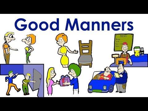 Good Manners | Polite |  Easy English Conversation Practice | ESL.