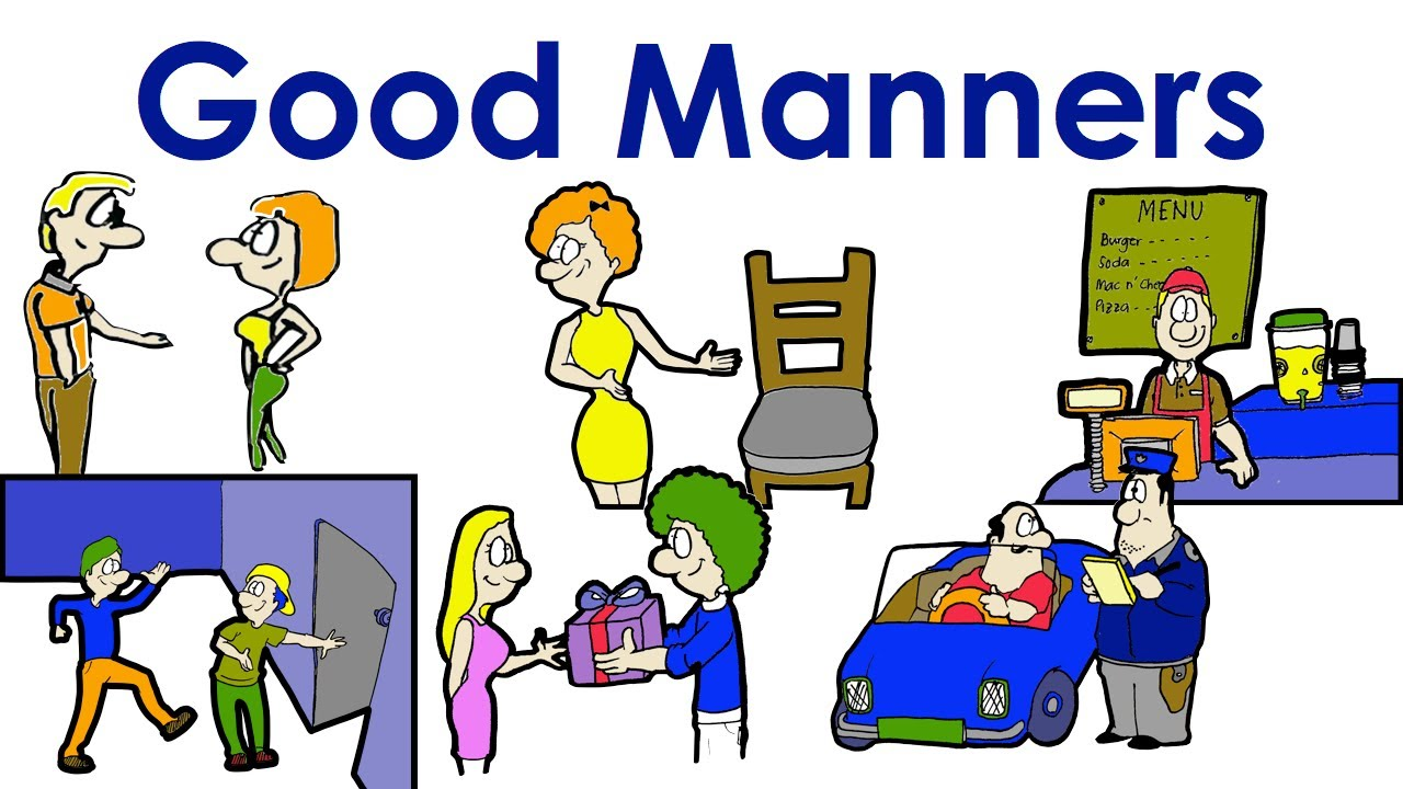 Good Manners Polite Easy English Conversation Practice – Manners Worksheet