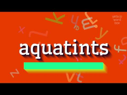 "How to say ""aquatints""! (High Quality Voices)"
