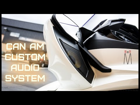 Can Am Spyder ST Custom Audio System - Fiberglass Pods