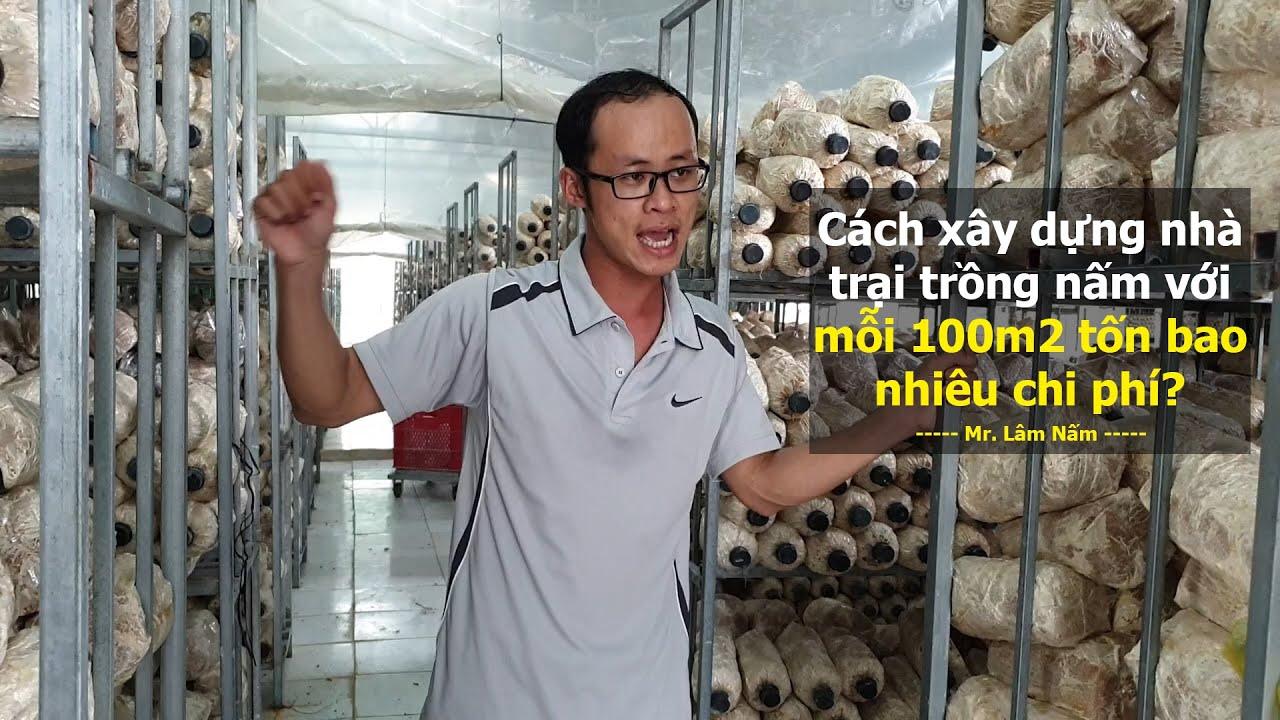 Cách xây dựng trại nấm chuẩn thông thoáng và tổng chi phí tiêu hao cho mỗi 100m2
