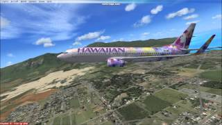 FSX Hawaiian Airlines Boeing 737 Maui to Honolulu