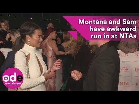 Montana and Sam have awkward run in at NTAs