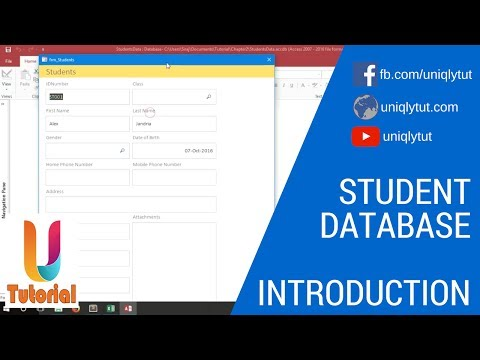 How to create ms access students database management system for school