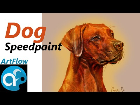 Doggy Speed Painting (Artflow)