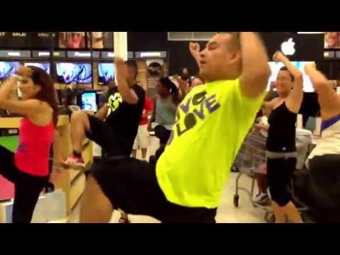 Zumba Flashmob,@ kadena BX, okinawa