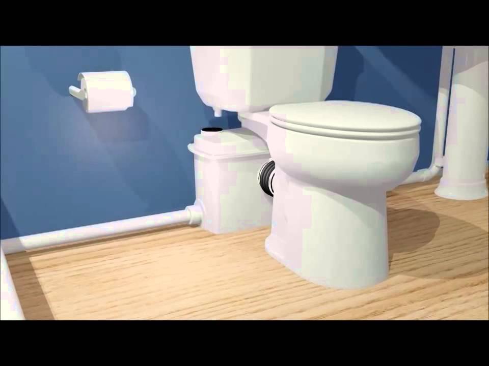 Bao WC Qwik Jon con bomba trituradora  YouTube