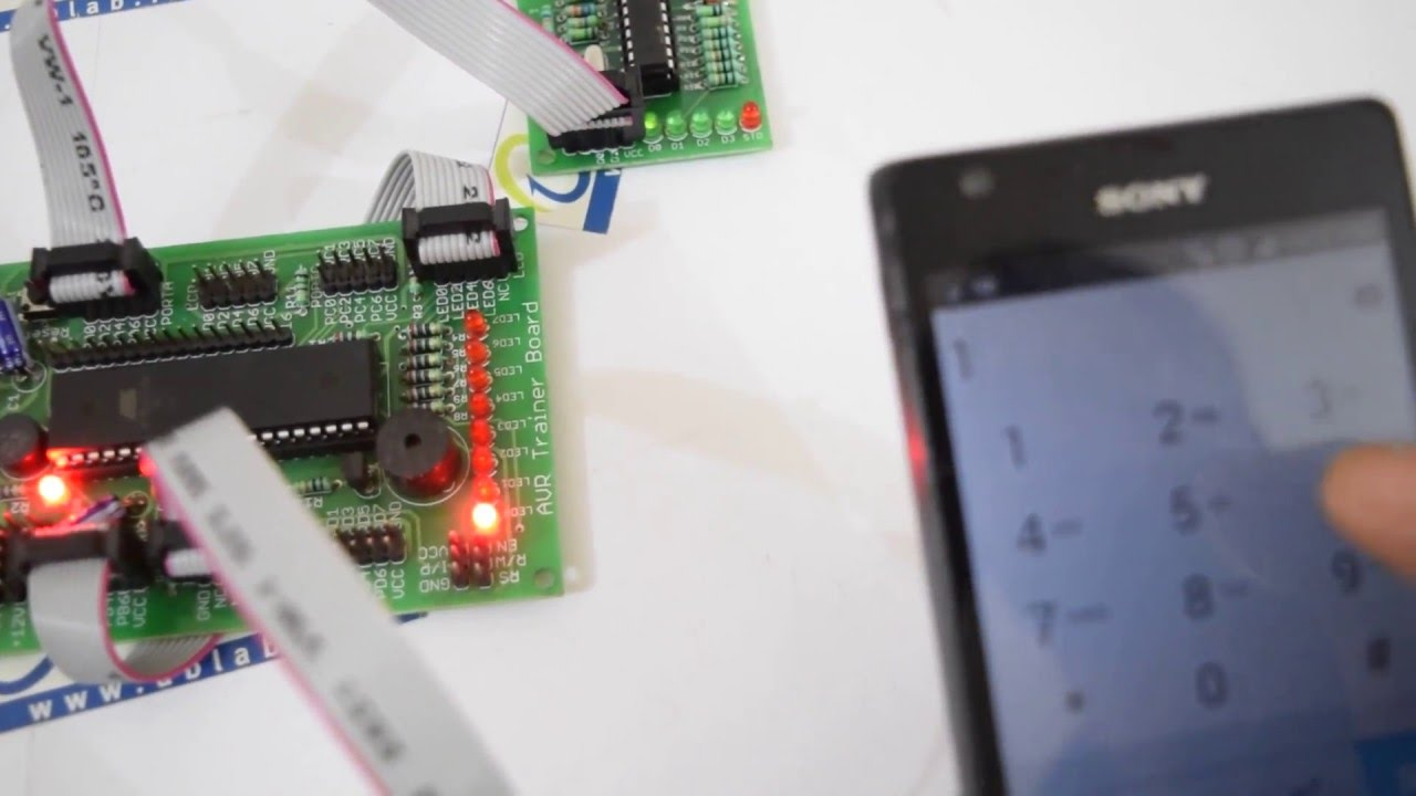 Dtmf Decoder Interfacing With Atmega16 And Led Display By Ablab Circuit Diagram Solutions