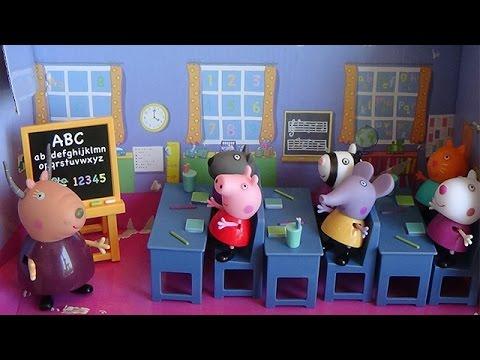 Peppa Pig Salle de Classe Jouets ♥ Peppa Pig Classroom Playset