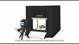 PULUZ Folding Portable White Light Photo Lighting Tent Box Kit with 3 Colors Backdrops
