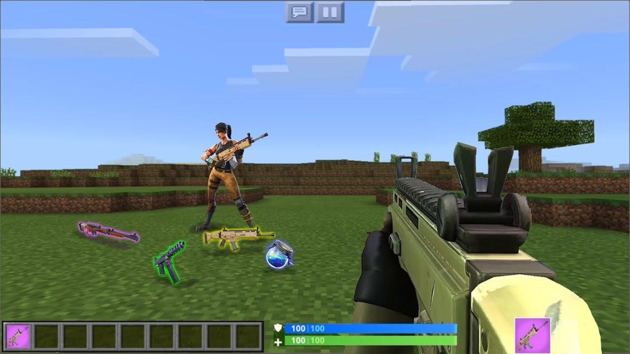 realistic fortnite mod for minecraft pe 1 4 - minecraft fortnite server download