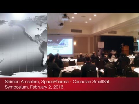 Shimon Amselem of SpacePharma at the Canadian SmallSat Symposium