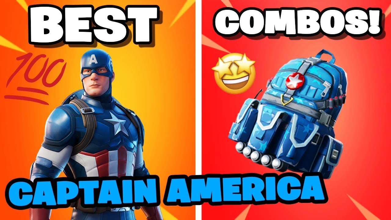 Captain America Best Combos You MUST TRY THESE! | Fortnite Captain America