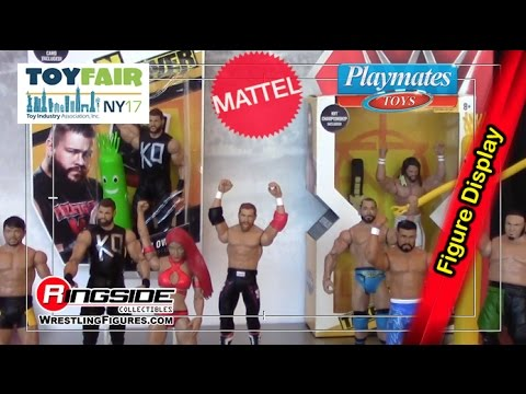 Part 2: Mattel & Playmates 2017 NY Toy Fair WWE Figure Display - Ringside Collectibles