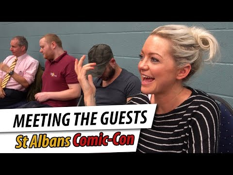 Meeting the Guests at St Albans Comic con