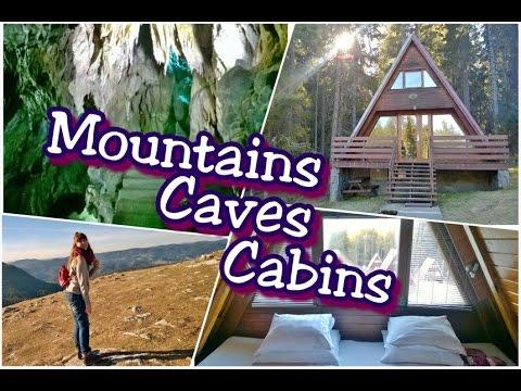 Mountain Forest A-Frame Cabin   Yagodina Cave exploration   Vlog   Amethystra Bits