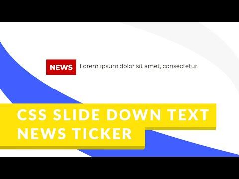 CSS Slide Down Effect News Ticker (EASY)