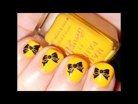 ногти дизайн с желтым цветом фото