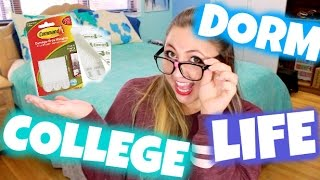 COLLEGE DORM LIFE 101! 5 Must-Haves, Do