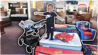 BABY AYDEN BUY HIS FIRST BED ! 😱