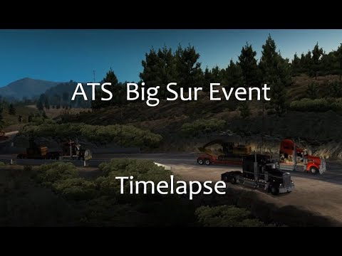 ATS multiplayer - Huge traffic Jam Timelapse (WoT Big Sur Event)
