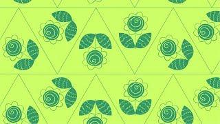 corelDraw - Бесшовный Узор Треугольник с Цветком