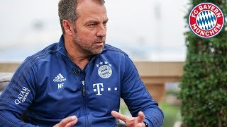 Hansi flick: positive reflection on training camp in doha & injury update gnabry and hernandez