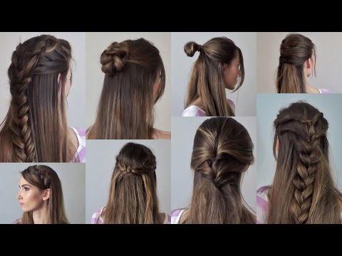8 простых причесок на каждый день за 2-5 минут   с распущенными волосами
