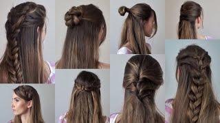 видео Плетение кос с распущенными волосами