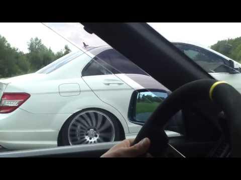 R21 Turbo contre C63 AMG Mespiecesauto.com