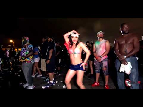 Latina Dancing To Soca calypso Music