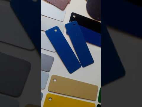 Видеообзор цветовой гаммы - Гладкий лист с полимерным покрытием - Польша Pruszynski 0,5 мм