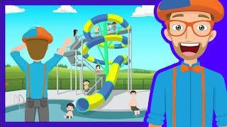 Repeat youtube video The Theme Park Song by Blippi | Amusement Park for Children