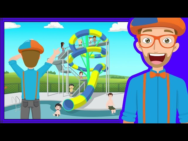 The Theme Park Song by Blippi   Amusement Park for Children